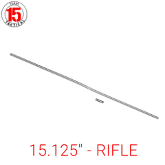 "15.125"" Gas Tube for AR-15, AR-10, LR-308 .223/5.56/.308 - RIFLE Length - 15.125 inches - Stainless Steel - Gas Roll Pin included"