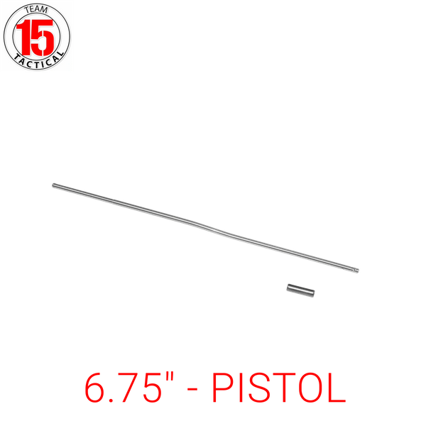 "6.75"" Gas Tube for AR-15, AR-10, LR-308 .223/5.56/.308 - Pistol Length - 6.75 inches - Stainless Steel - Gas Roll Pin included"