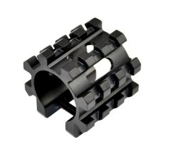 5 Slot Barrel Mount Tri Rail for 12 Gauge Shotgun