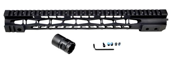 "15"" Presma AR-15 (.223/5.56) Free Float Handguard Forend with KeyMod, Steel Barrel Nut"