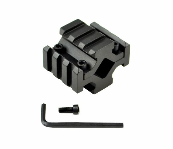 Barrel Mount Quad Rail (total 12 slots) for Barrel Diameter .51?-.78? - Fits standard AR15 - Aluminum - Black