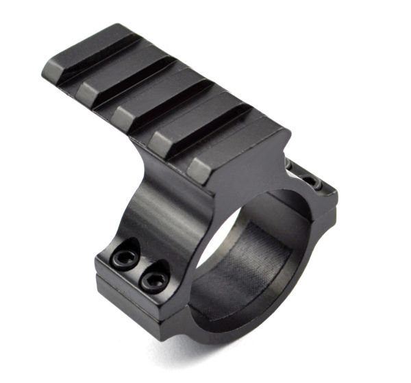 30mm Scope Tube Mount with 4 slot Picatinny Rail for Mounting Mini Red Dot, Laser or Flashlight