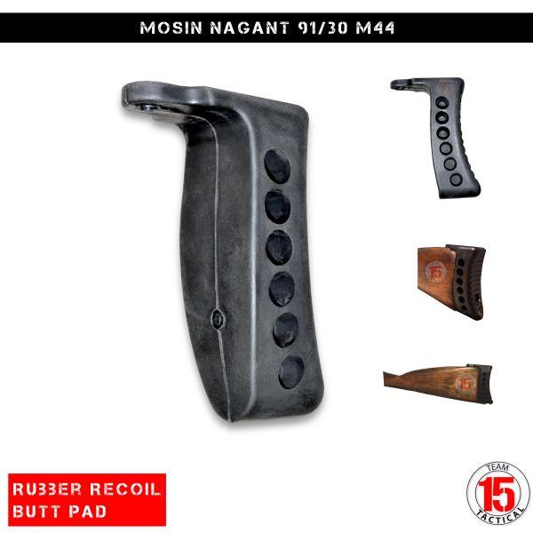"Sniper® Mosin Nagant Recoil 1"" Rubber Butt Pad Fits M38 M44 91/30,Black"