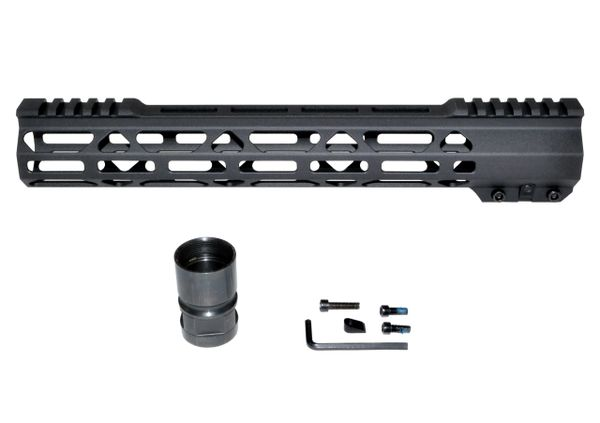 "12.5"" Free Float Handguard for AR-15 .223 / 5.56, ID 1.36"" 11.3 oz"