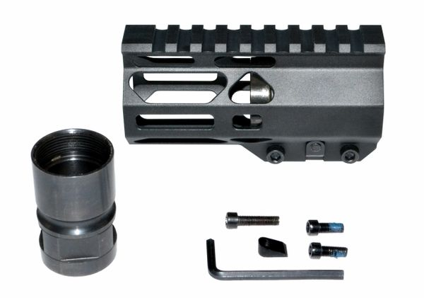 "4.2"" AR Pistol Free Float Handguard for AR-15 .223 / 5.56, ID 1.36"""