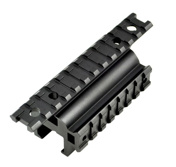 Scope HK MP5 G3 Claw Mount Dual Picatinny Rail Handguard Mount - 19 slots -  Aluminum - Black