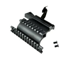 AK47 Saiga 12 20 223 410 Quick Detachable Side Accessory Mount with Top and Side Picatinny Rails - Powder Coated Aluminum - Black