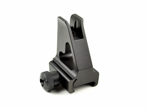 A2 High Profile Front Backup Sight Post for Mounting on AR15 Low Profile Gas Block - Aluminum (Not Handguard Level)
