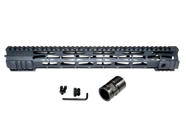"15"" Presma M-LOK Free Float Handguard for AR-15, ID 1.35"" 223 / 5.56"