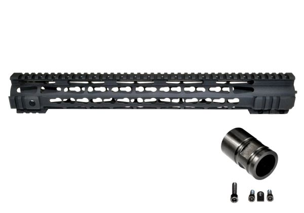 "16.5"" Presma LR-308 .308 16.5 INCH Free Float Handguard Rail Mount with KeyMod - Fits DMPS Low Profile Uppers"
