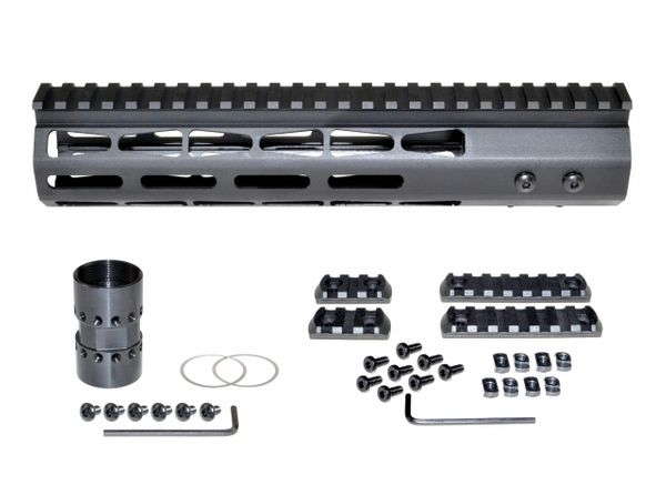 "10"" M-LOK Free Float Handguard for AR-15, ID 1.44"", 9oz, fits 223 / 5.56, Black"