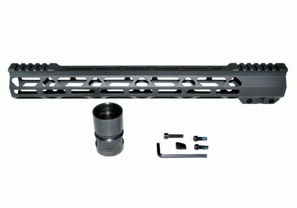 "15"" Free Float Handguard for AR-15 .223 / 5.56, ID 1.36"" 11.8 oz"