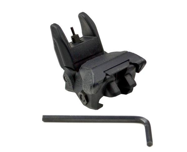 Front Flip-Up Backup Sight for Picatinny Rail - Polymer - Black