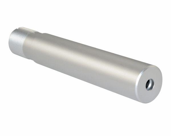 "AR-15 Pistol Buffer Tube w/ Sling Swivel QR Hole, Aluminum, 1.24"" OD, SILVER"