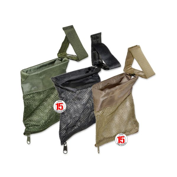Brass Catcher Pouch for AR-15 with Straps - Choose from Black / Green / Tan
