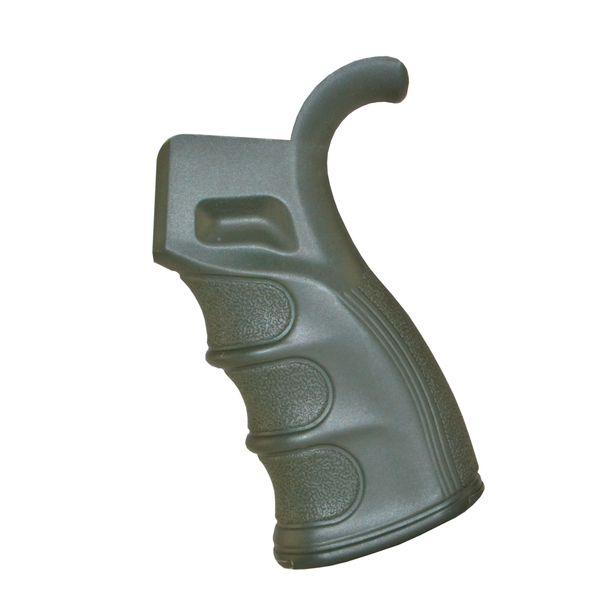 AR15 Rear Pistol Grip, Beavertail, Fixed Polymer - Green (GP20A)