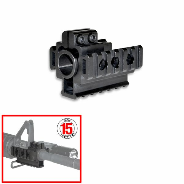 AR-15 .223/5.56 Front Sight Post Tri Rail Barrel Mount w/ Spacers [2pc Drop In Handguard Setup]