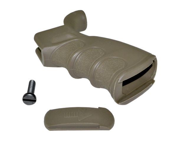 AR15 Rear Pistol Grip, Beavertail, Fixed Polymer - TAN (GP20A-T)