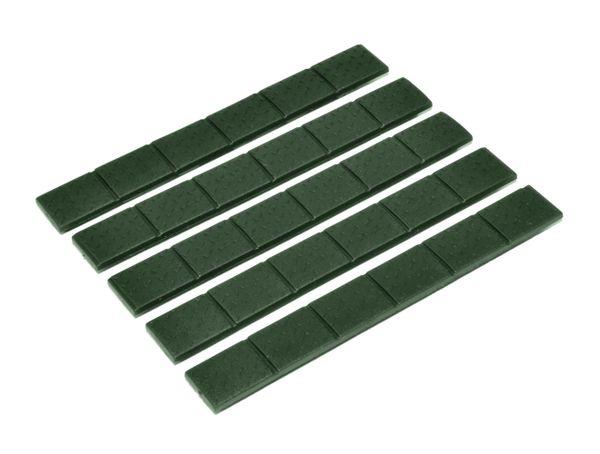 Trinity Force Quad Rail Cover Protectors, 5 per pack - Green