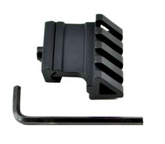 45 Degree Offset Rail Accessory Mount - Aluminum - Black