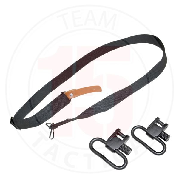 """Ruger 10/22 2 point Sling with 2 Barrel Band Mount 1"""" Swivel Adapters"""