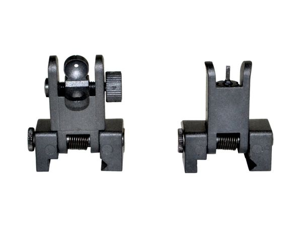 AR Flip-up Backup Sights SET, Plastic, Black (MFLRS06)