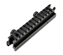13 Slot High Profile 1 INCH Riser Mount for Scopes or Accessories - 20mm Picatinny Rail (standard size)