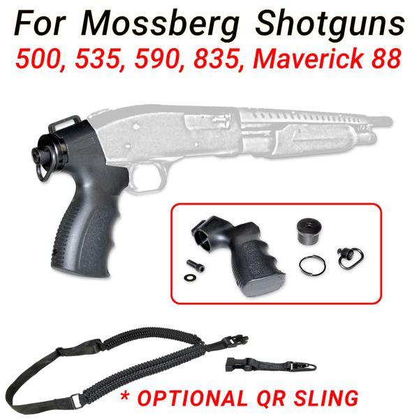 Shotgun Rear Grip Kit w/ End Cap for Mossberg 500 535 590 835 Maverick 88 Optional Sling