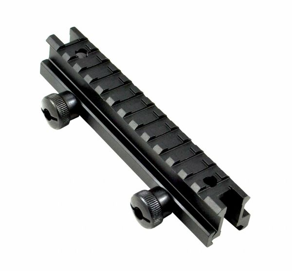 "13 Slot Medium Profile 0.83""; High Riser Mount for Scopes or Accessories - 20mm Picatinny Rail (standard size)"