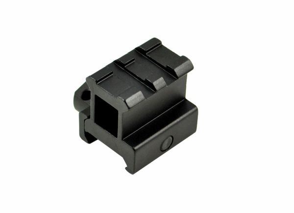 2 Slot High Profile 1 INCH Riser Mount for Scopes or Accessories - 20mm Picatinny Rail (standard size)