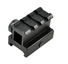 3 Slot High Profile 1 INCH Riser Mount for Scopes or Accessories - 20mm Picatinny Rail (standard size)