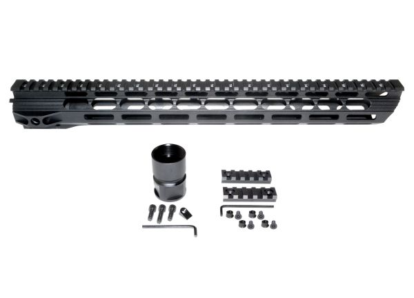 "16.5"" M-LOK Free Float Handguard for AR-15 .223 / 5.56, ID 1.36"" 12.3 oz"