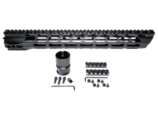 "15"" M-LOK Free Float Handguard for AR-15 .223 / 5.56, ID 1.36"", 11.6oz"