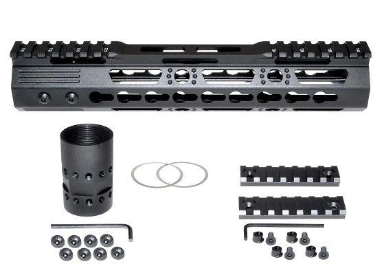 "10"" KeyMod Free Float Handguard for AR-15 .223 / 5.56, ID 1.37 8.6oz"