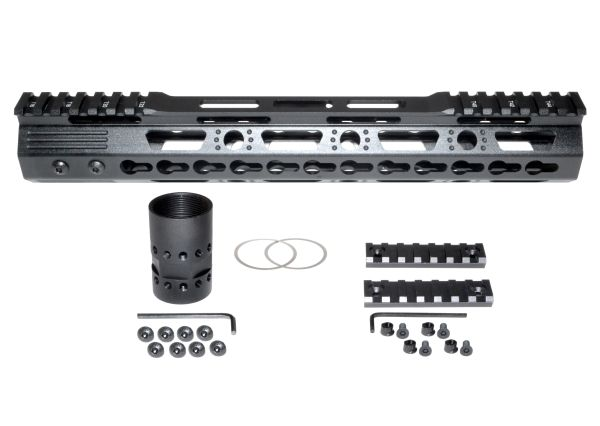 "12"" KeyMod Free Float Handguard for AR-15 .223 / 5.56, ID 1.37"", 9.5oz"
