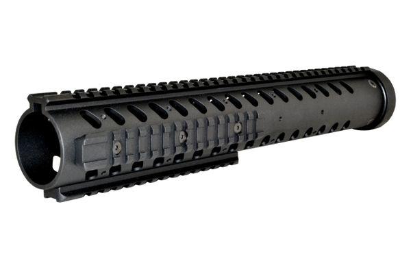 "14"" Free Float Round Handguard Quad Removable Rail Mount for .223 / 5.56 AR-15 - Black"