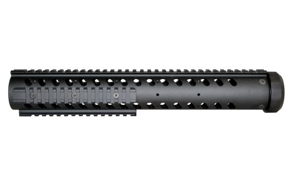 "14"" Free Float Round Handguard Quad Removable Rail Mount for .223 / 5.56 AR-15 - Black"