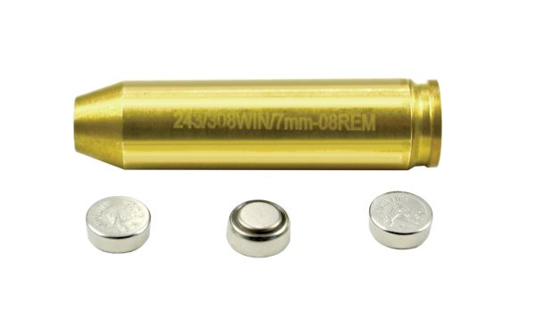 .243 .308WIN 7mm Laser Boresight for Zeroing Scope, Sights etc. - Batteries included 7.62X54mmR
