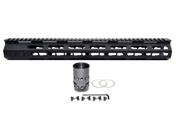 "15"" KeyMod Free Float Handguard for AR-15 .223 / 5.56 18 oz"