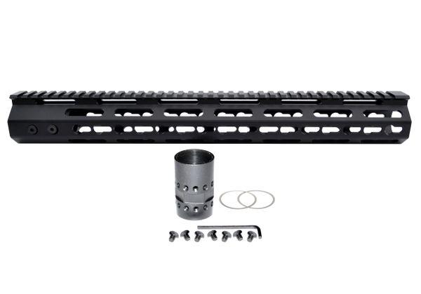"15"" KeyMod Free Float Handguard for AR-15 .223 / 5.56 18 oz"