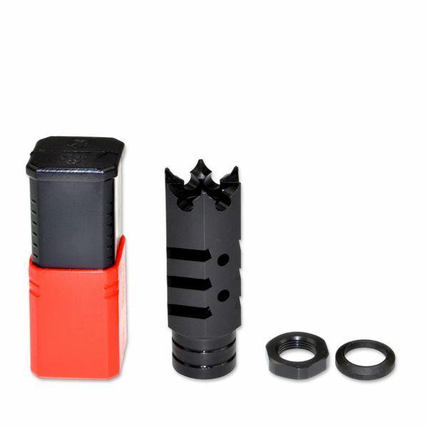 "5/8""x24 Muzzle Brake for for .308 AR-10 LR-308 AR 308, Steel, Black"
