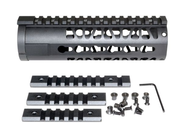 "7"" KeyMod Free Float Handguard for AR-15 .223 / 5.56, ID 1.75"""