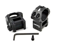 1 INCH High Profile Quick Release Scope Rings For Picatinny Rail System - Black