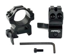 1 INCH Medium Profile Quick Release Scope Rings For Picatinny Rail System - Black