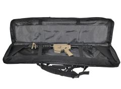 "Presma 46"" Rifle Gun Case, Black with 2 internal compartments; 3 pockets"
