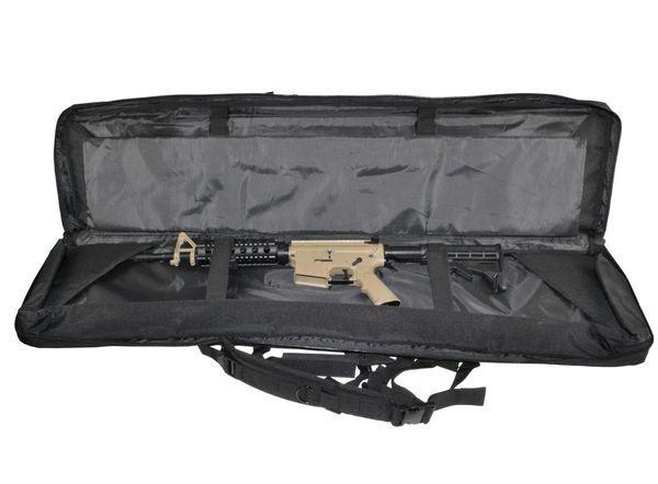 "Presma 46"" Rifle Gun Case, Black with 2 internal compartments; 3 pockets"