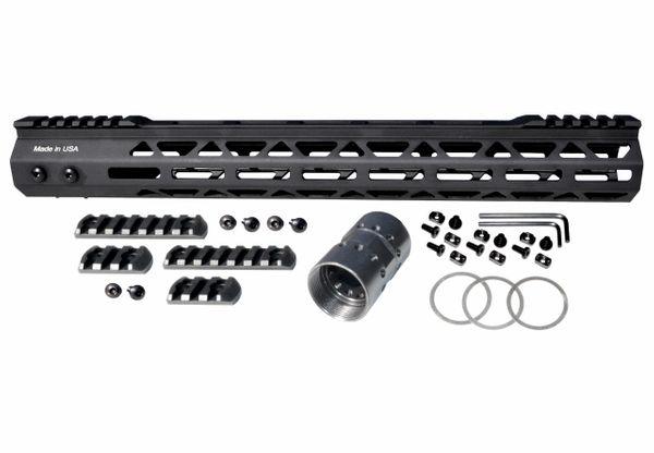"15"" M-LOK Split Top Rail Free Float Handguard for AR-15 223 / 5.56, Made in USA"
