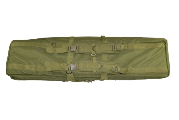 """46"""" Rifle Gun Case, Green with 2 internal compartments; 3 pockets"""