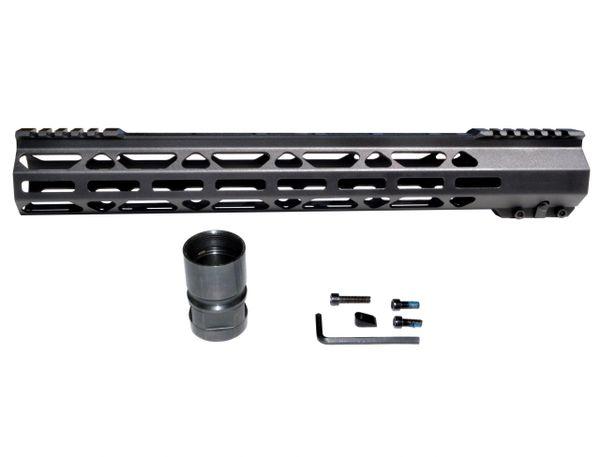 """15"""" LR 308 DPMS High Super Light M-LOK Series Free Float Handguard Rail w/ Split Top Rail, 15 IN"""