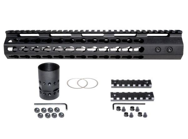 "12.5"" KeyMod Free Float Handguard for AR-15 2.23 / 5.56"